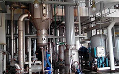 0.8 T/h sodium chloride single-effect evaporator continuously